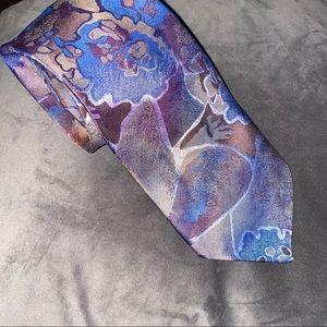 Oscar De La Renta Vintage Studio Floral Tie